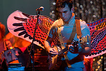Sufjan Stevens, banjo, heart, wings