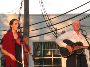 Jack Hardy and his daughter, Morgan Hardy, in 2006