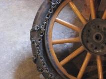 (An old wheel, Casa Loma, Toronto.  Summer 2014.)