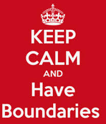 keep calm and have boundaries