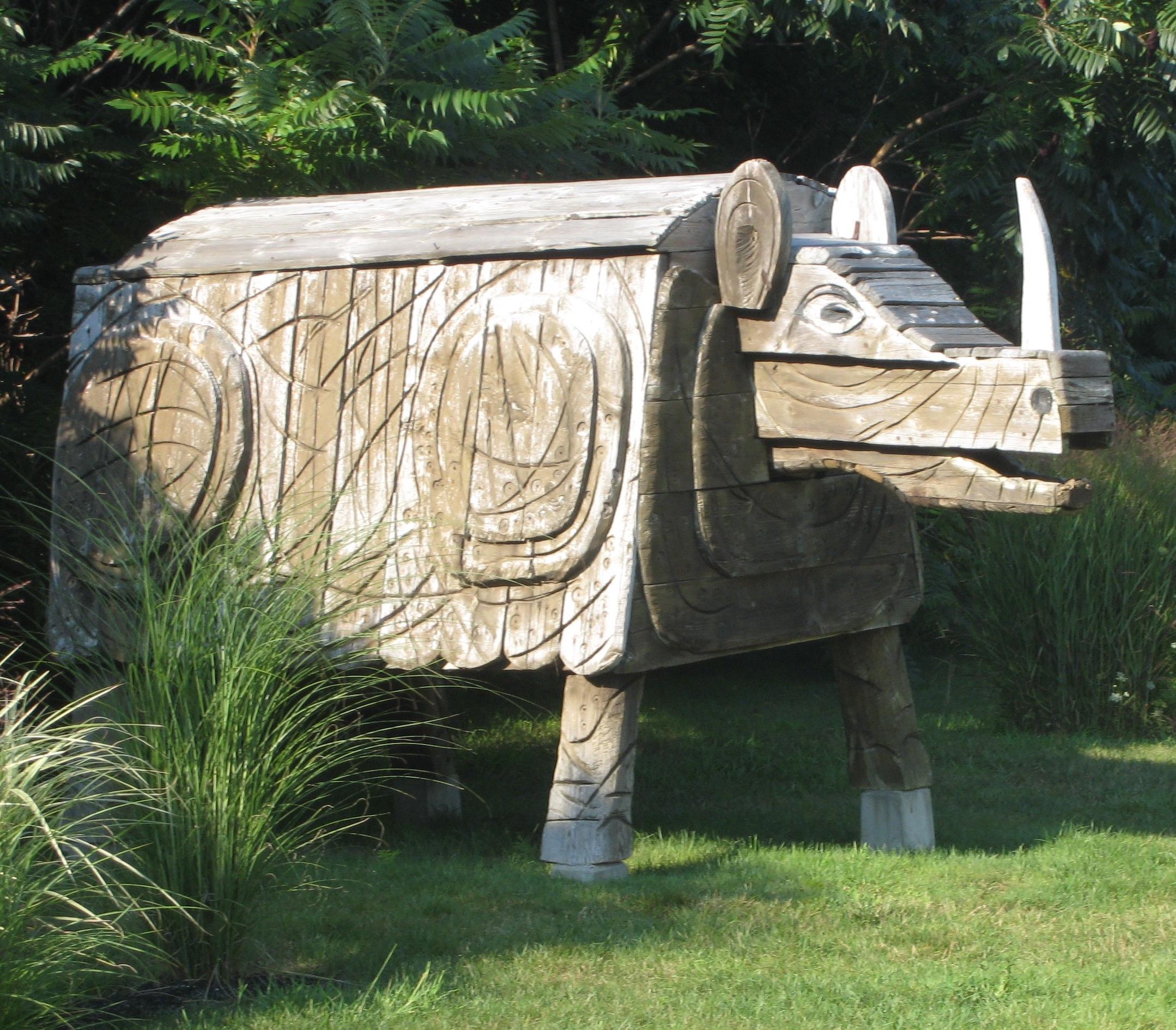 sculpture garden, Ogunquit Museum of Art (Maine)