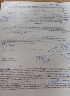 scribbled-on page of my novel